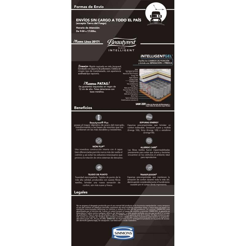 200x200 simmons beautyrest blackintelligent juego colchon - Colchon 200x200 ...
