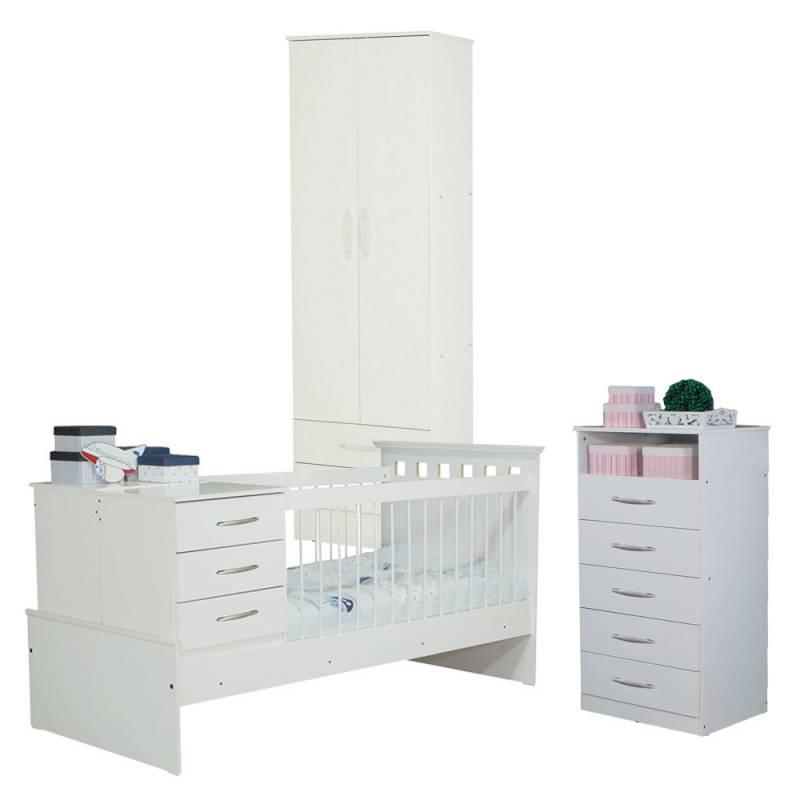 Juego Dormitorio Cama Cuna Funcional Placard Chifonier - ICBC Store
