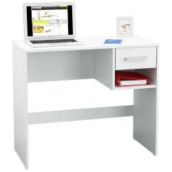 Escritorio Mesa Pc Computadora Moderno 1 Cajón Blanco Envíos