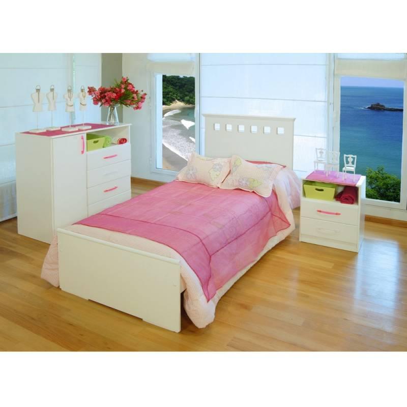 Cama 1 una plaza respaldo s infantil juvenil blanco icbc for Precio de cama de 1 plaza