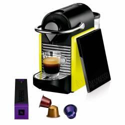 CAFETERA NESPRESSO PIXIE CLIPS CON AEROCCINO YELLOW & BLACK