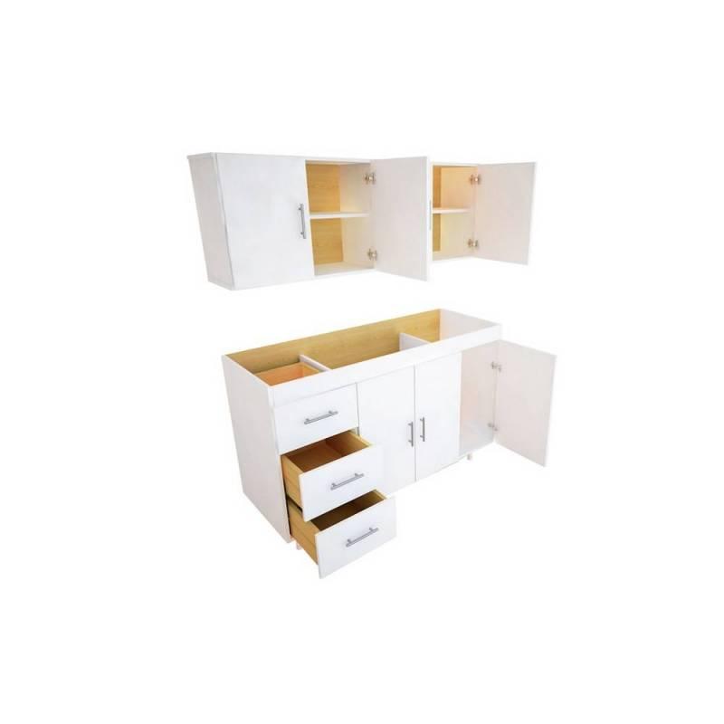 mueble alacena cocina 4 puertas blanco icbc store