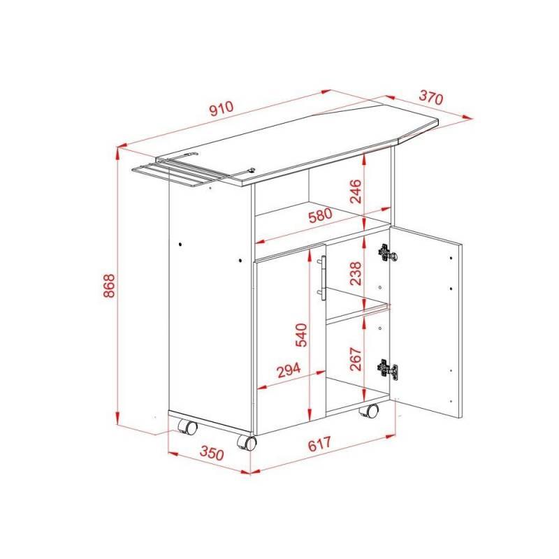 Mueble planchador tabla planchar blanco icbc store - Mueble tabla planchar ...