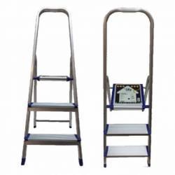 Escalera aluminio 3 escalones plegable