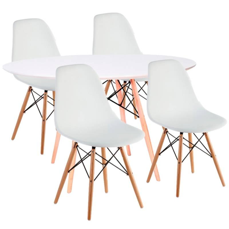 Mesa redonda con sillas conjunto mesa redonda y sillas for Sillas para mesa redonda
