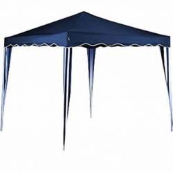Gazebo desarmable 3x3 impermeable azul