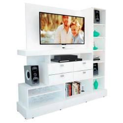 Centro de entretenimiento mueble tv blanco