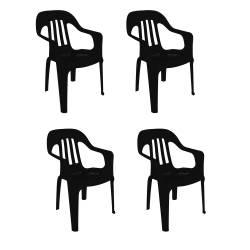 4 sillas plástico 82x55 apoyabrazos ng