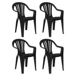 4 sillas plástico 79,5x51 apoyabrazos ng