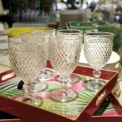 Copas Labradas de vidrio de 340ml - set x 12 piezas