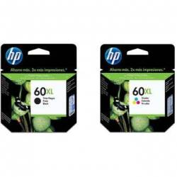 Combo Cartucho HP 60 Negro XL + HP 60 Tricolor XL