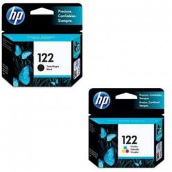 Combo Cartucho HP 122-Negro + Cartucho HP 122-Tricolor