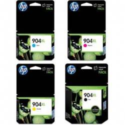 Combo Cartucho HP 904XL Negro + HP 904XL Cian + HP 904XL Amarillo + HP 904XL Magenta