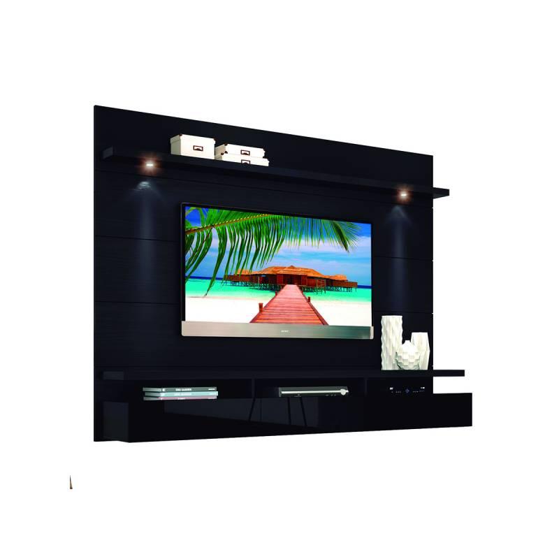 Mueble TV Panel 2cajones 2,2 MDP Negro - ICBC Store