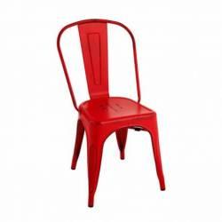 Silla Tolix Vintage Roja