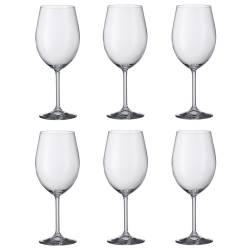 Copas de Vino de 590ml Bordeaux Cristal de Bohemia - juego x 6