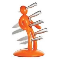 Taco Hombre Apuñalado con 5 cuchillos de acero inoxidable - Naranja