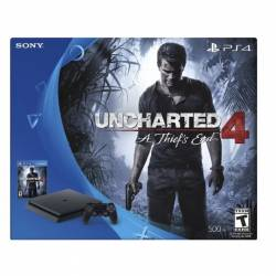 Sony PlayStation 4 (PS4) Slim 500GB Consola Uncharted 4