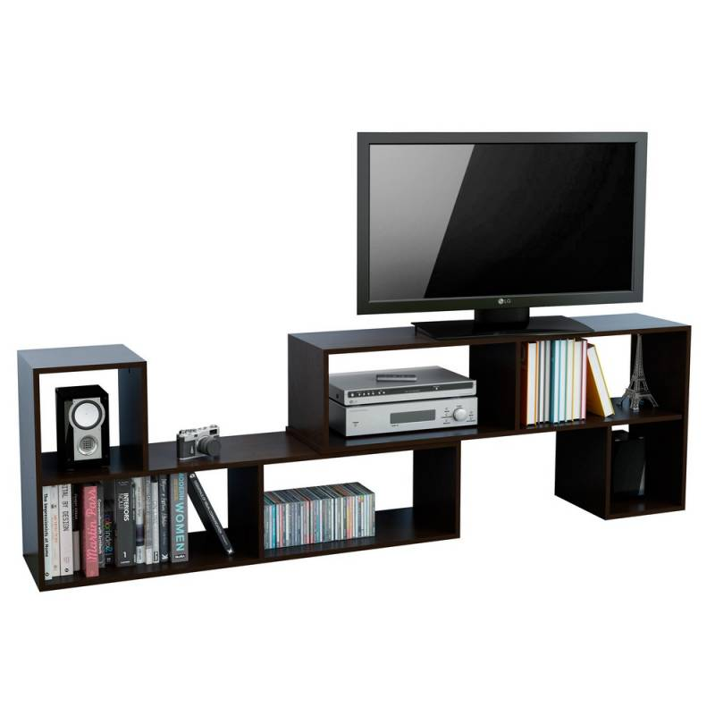 Mueble moderno para tv mueble moderno blanco tv saln with for Muebles l moderno
