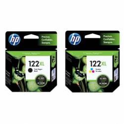 Combo Cartucho HP 122XL-Negro + HP 122XL-Tricolor
